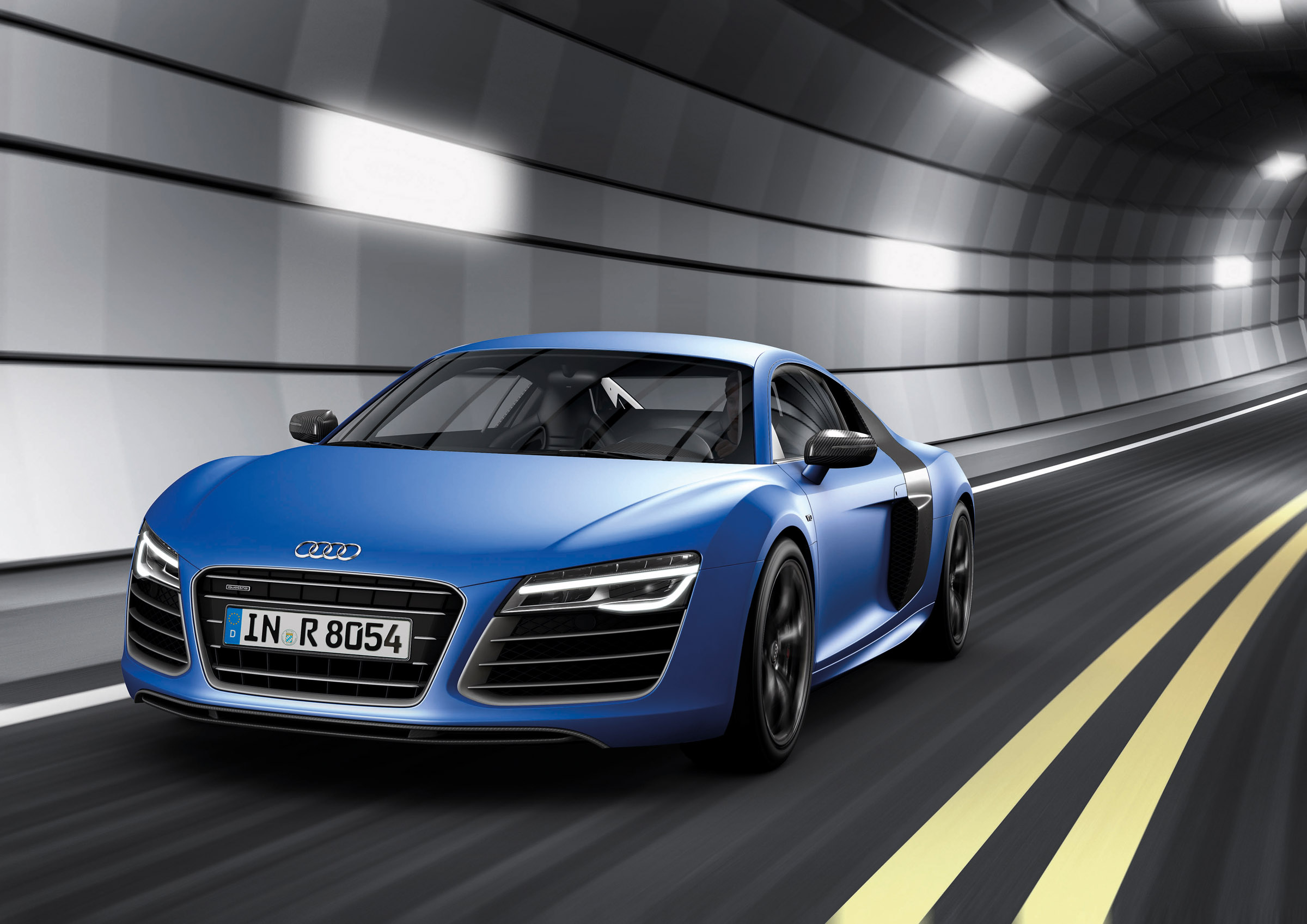 2013 Blue Audi R8 V10 plus Front View