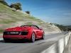 2013 Red Audi R8 Spyder V10 Rear View