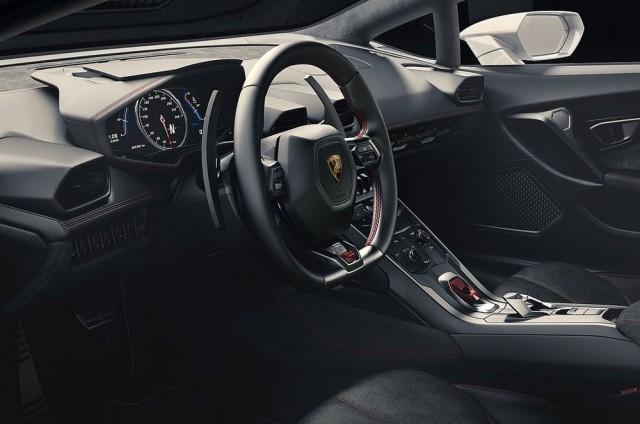 รูปที่หกภายใน Lamborghini Huracan LP 610-4