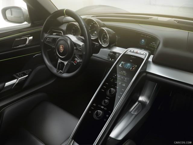 Porsche 918 Spyder รูปคอนโซลรถ สุดยอดรถสปอร์ต