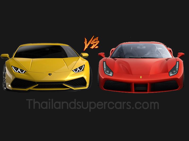 Ferrari 488 GTB vs Lamborghini Huracan LP 610-4 เทียบปอนด์ต่อปอนด์