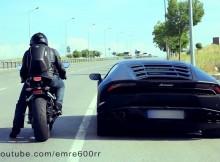 Lamborghini Huracan VS CBR 1000RR ซุปเปอร์คาร์ปะทะซุปเปอร์ไบค์
