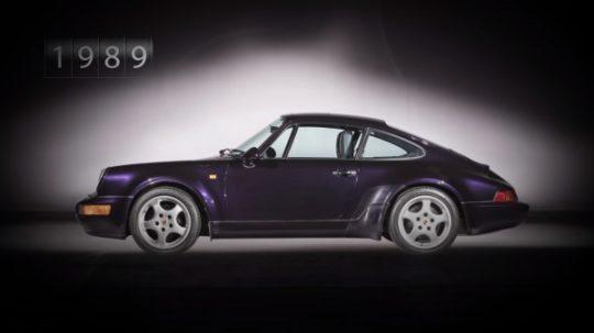 Porsche 911 รุ่นที่ 3 รหัสตัวถัง 964 เปิดตัวในปี 1989