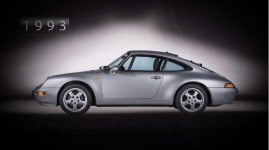 Porsche 911 รุ่นที่ 4 รหัสตัวถัง 993 เปิดตัวในปี 1993